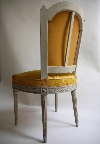 Louis XVI - Suite of 4 chairs stamped by Henri Jacob, 18th century