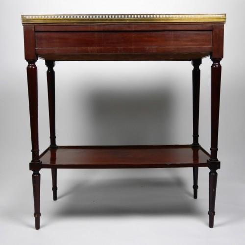 A Louis XVI mahogany console, 18th century -