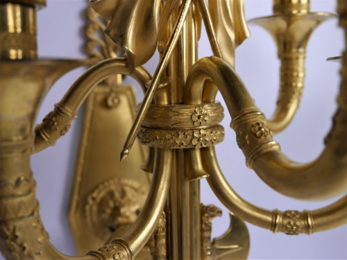 Lighting  - Pair of sconces by Thomire for Marshal Lannes, early 19th century