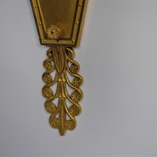 Pair of sconces by Thomire for Marshal Lannes, early 19th century - Empire