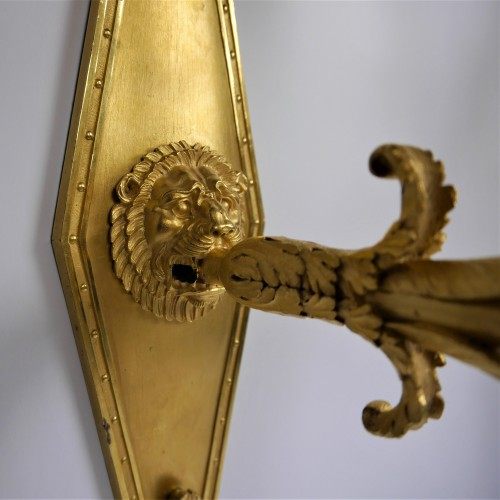Empire - Pair of sconces by Thomire for Marshal Lannes, early 19th century