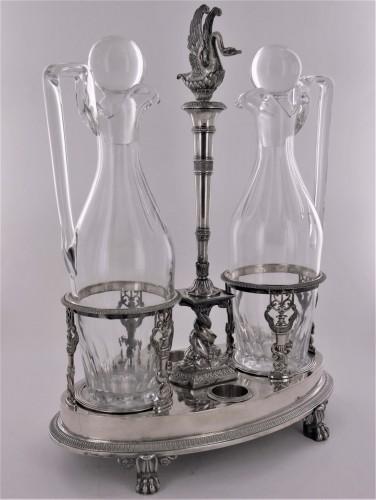 A Sterling Silver Oil And Vinegar Cruet, Empire Period -