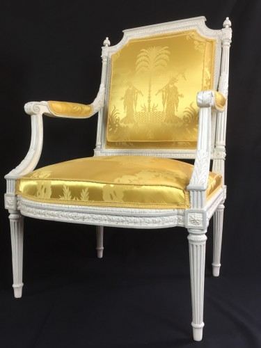 Seating  - A pair of Louis XVI armchairs by Chevigny