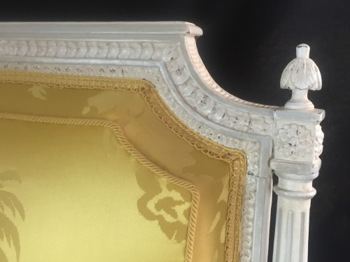 18th century - A pair of Louis XVI armchairs by Chevigny