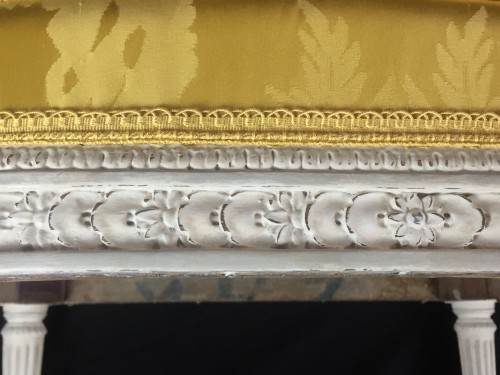 Louis XVI - A pair of Louis XVI armchairs by Chevigny