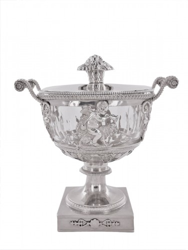 An Empire silver drageoir, beginning of the 19th century