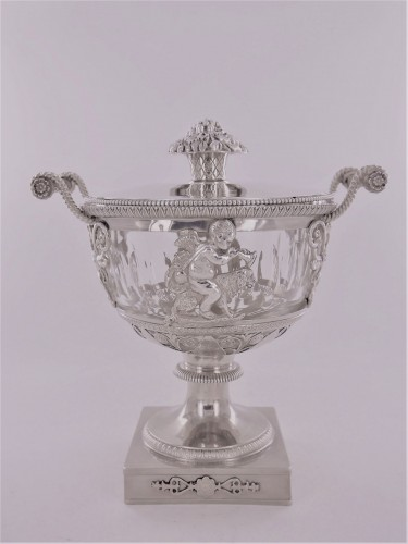 Antique Silver  - An Empire silver drageoir, beginning of the 19th century