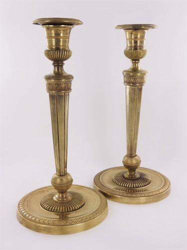 Pair of Empire candlesticks by Ravrio -