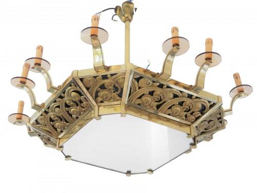 An Art Deco chandelier, 20th century