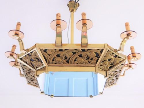Lighting  - An Art Deco chandelier, 20th century