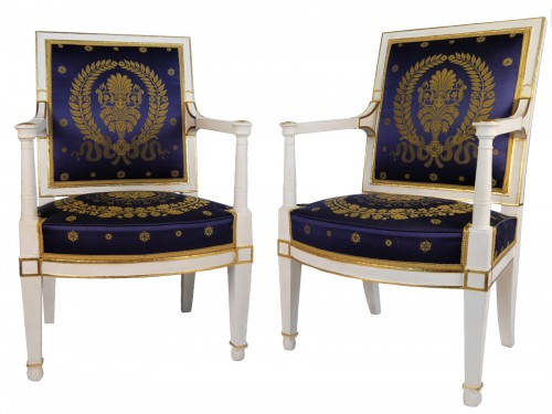 Pair of Empire armchairs by Demay
