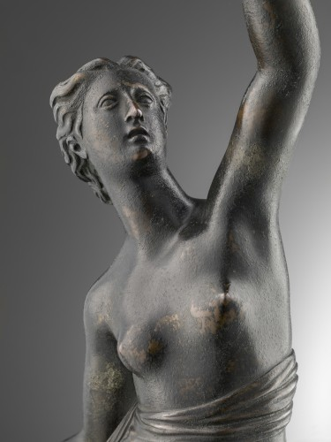 A bronze of a standing female nude - Louis XIII