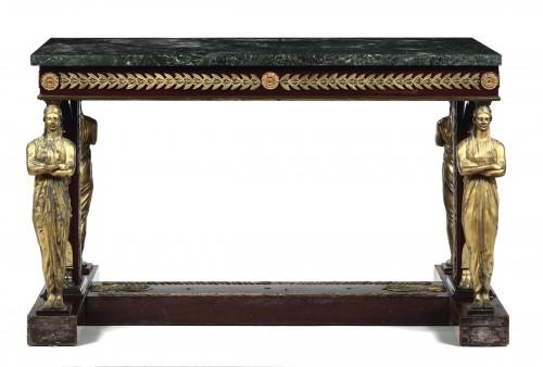 An Empire  center table -