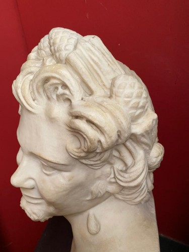 Marble sculpture of Satyr -