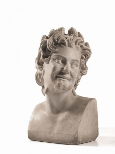 Antiquités - Marble sculpture of Satyr