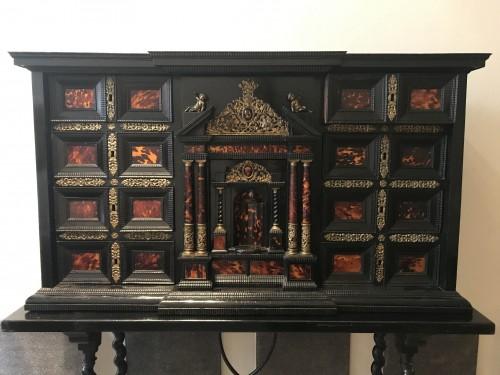 Furniture  - Pair of ormolu-mounted tortoiseshell cabinets