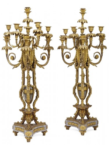 Pair of candelabra, France last quarter of 19th Century - Deniere & Picard AA