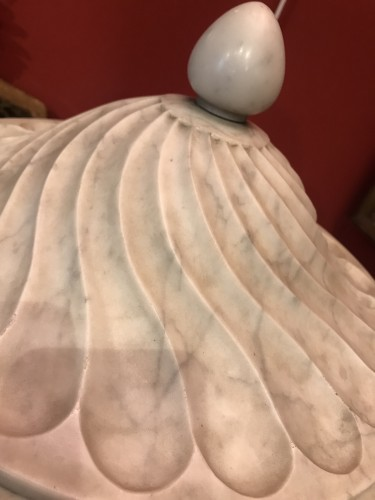 Pair of Carrara marble vases -
