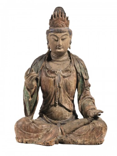 Large sculpture of Buddha, China Ming Dynasty, 15th / 16th Century