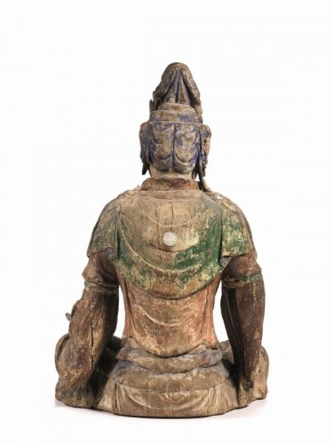 Large sculpture of Buddha, China Ming Dynasty, 15th / 16th Century - Asian Art & Antiques Style