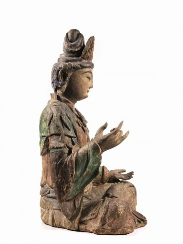 Asian Art & Antiques  - Large sculpture of Buddha, China Ming Dynasty, 15th / 16th Century