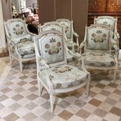 A Louis XVI lacquered wood Salon Set