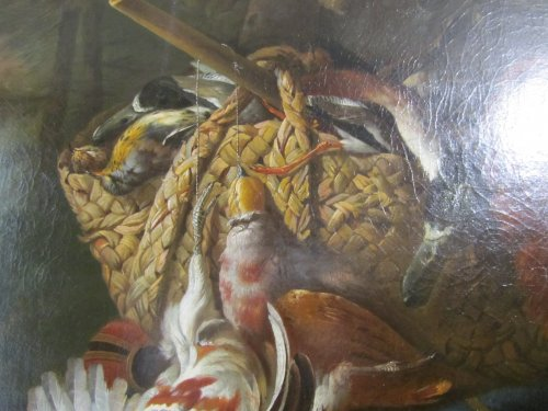 Paintings & Drawings  - A late XVIIth century Partridge hunting