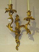 Pair of Louis XV period bronze wall lights