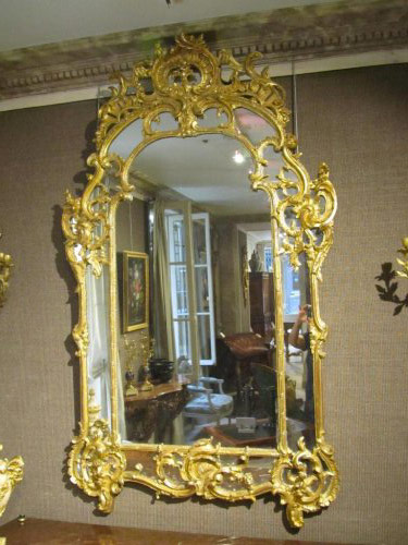 French Regence period giltwood mirror