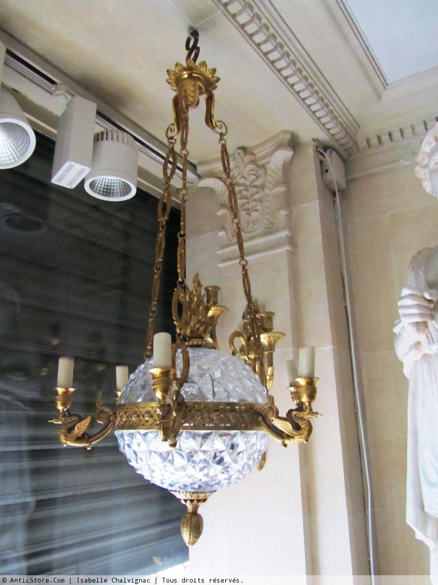 Suspension en cristal circa 1820 1830 xixe si cle - Suspension en cristal ...