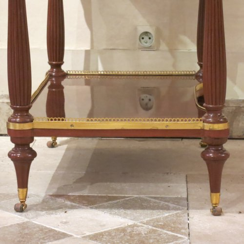 Furniture  - A french louis XVI Center table in mahogany stanped Pierre Harry MEWESEN