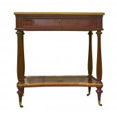 A french louis XVI Center table in mahogany stanped Pierre Harry MEWESEN