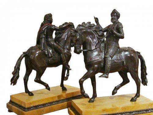 Bronze equestrian 1820