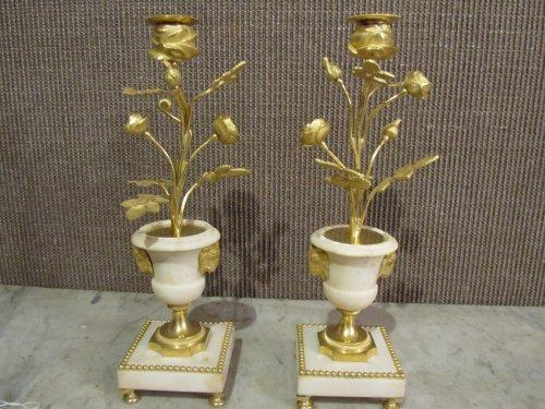 Lighting  - Pair of Louis XVI candelsticks