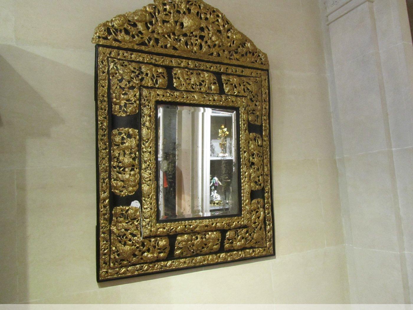 Paire de miroirs louis xiv xviie si cle for Miroir louis xiv