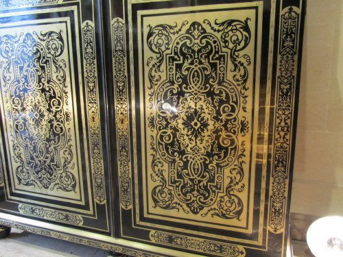 A louis xiv Boulle marquetry book case - Furniture Style Louis XIV