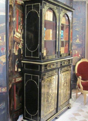 Antiquités - A louis xiv Boulle marquetry book case