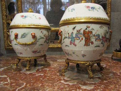 Porcelain lidded jar pair circa 1820