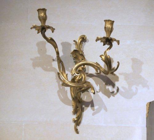 A pair Louis XV appliques