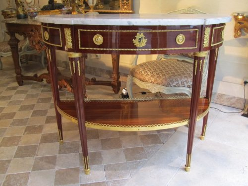 Antiquités - Console époque Louis XVI, Estampille de Charles Topino