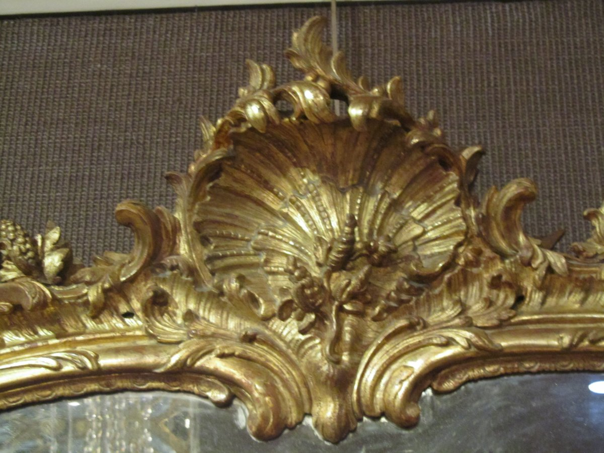 A Rocaille Louis Xv Giltwood Mirror Ref 59752