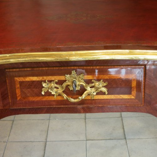Furniture  - A Louis XV Parisian Desk stamped  I.M. Chevallier