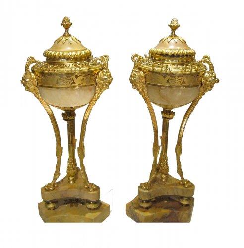 """A pair Louis XVI """" Pots Pourris """" cassolettes"""