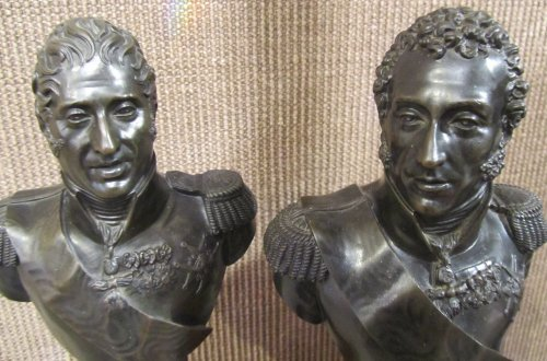 Sculpture  - Pair of bronze bust