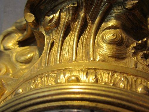 Louis XV - A french Louis XV ormolu striking cartel clock stamped A Thiout