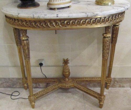 Louis XVI - A pair of fine Louis XVI giltwood consoles