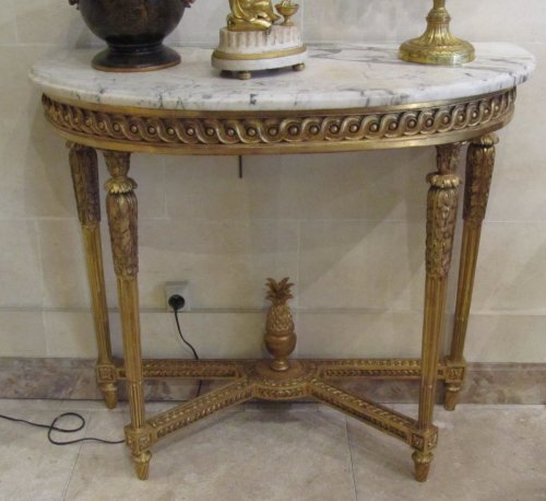 Antiquités - A pair of fine Louis XVI giltwood consoles