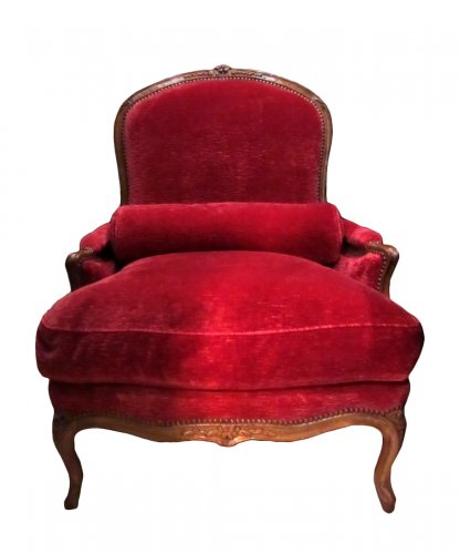 Wide Louis XV beechwood Bergere stamped Pierre Falconet