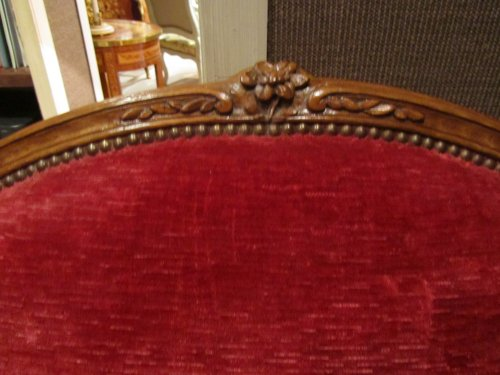Wide Louis XV beechwood Bergere stamped Pierre Falconet  - Seating Style Louis XV