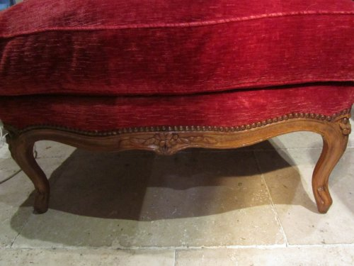 Seating  - Wide Louis XV beechwood Bergere stamped Pierre Falconet